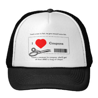 I Love Coupons - Teach A Man To Fish Cap