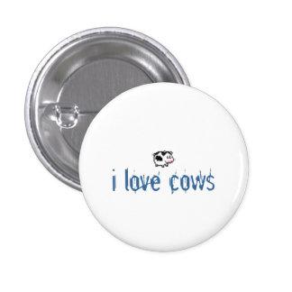 i love cows 3 cm round badge