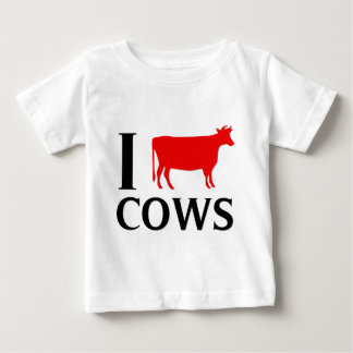 I Love Cows Baby T-Shirt