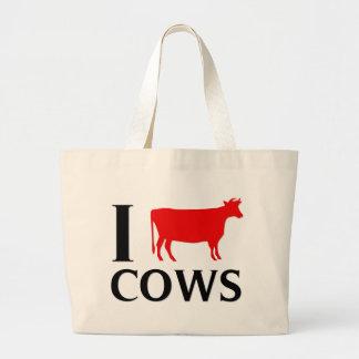 I Love Cows Tote Bags