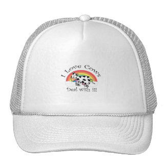I love cows deal with it trucker hat