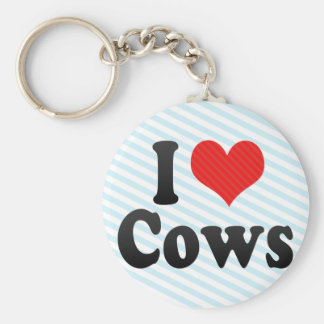 I Love Cows Keychains