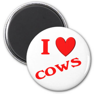 I Love Cows Refrigerator Magnets