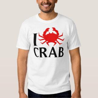 I Love Crab T Shirts