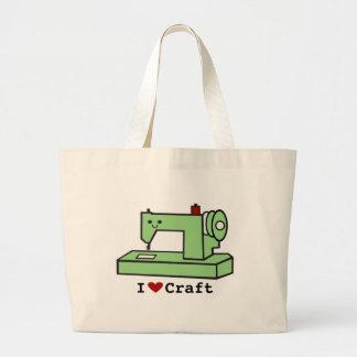 I Love Craft- Kawaii Sewing Machine Large Tote Bag