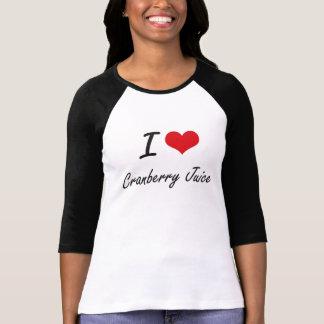 I Love Cranberry Juice artistic design T-Shirt