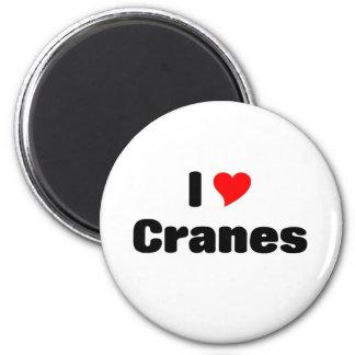 i love Cranes 6 Cm Round Magnet