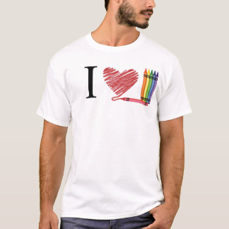 I Love Crayons T-Shirt