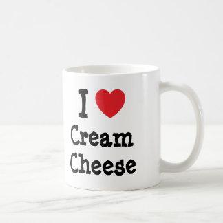 I love Cream Cheese heart T-Shirt Coffee Mugs