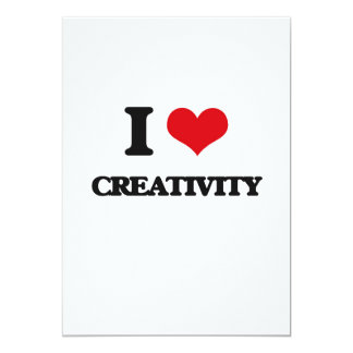 """I love Creativity 5"""" X 7"""" Invitation Card"""