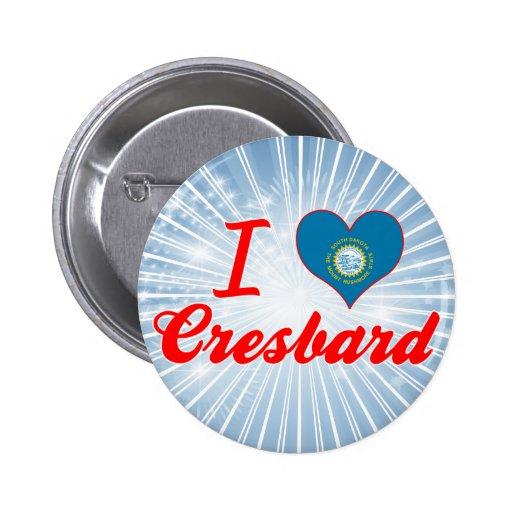 I Love Cresbard, South Dakota Pin