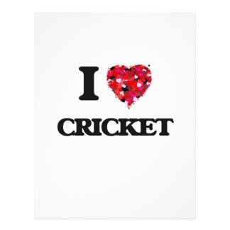 I Love Cricket 21.5 Cm X 28 Cm Flyer