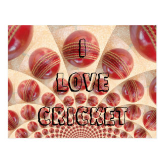 I Love Cricket Customize Product post card