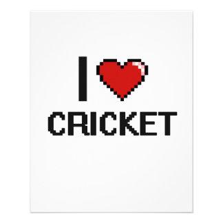 I Love Cricket Digital Retro Design 11.5 Cm X 14 Cm Flyer