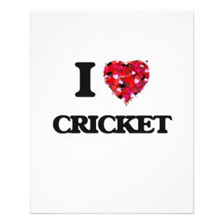 I Love Cricket 11.5 Cm X 14 Cm Flyer