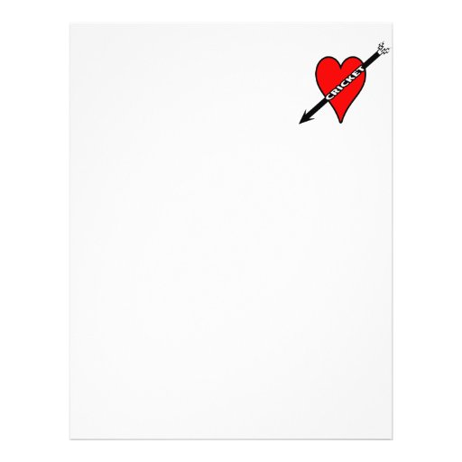 I Love Cricket Heart Personalized Flyer