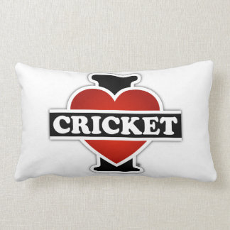 I Love Cricket Lumbar Pillow