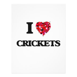 I love Crickets 21.5 Cm X 28 Cm Flyer