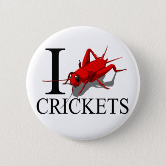 I Love Crickets Buttons