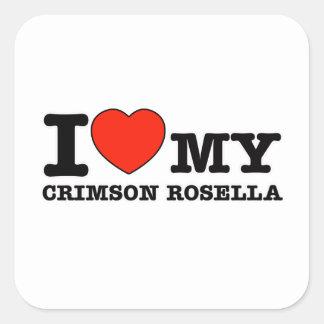 I Love crimson rosella Stickers
