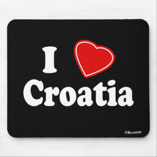 I Love Croatia Mouse Pad