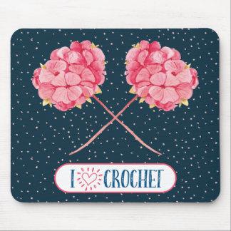I Love Crochet Mouse Pad