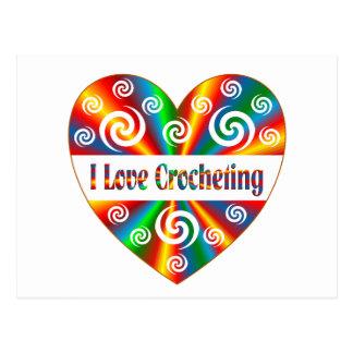 I Love Crocheting Postcard
