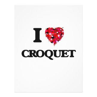 I Love Croquet 21.5 Cm X 28 Cm Flyer