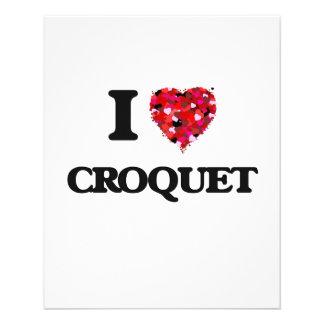 I Love Croquet 11.5 Cm X 14 Cm Flyer