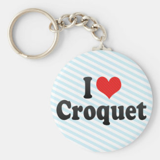 I Love Croquet Key Ring