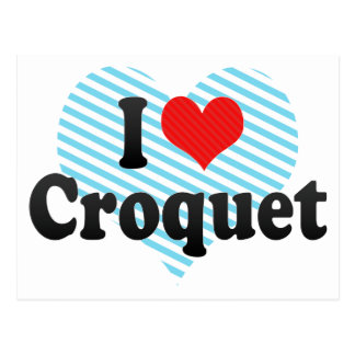 I Love Croquet Post Card