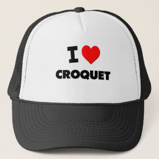 I love Croquet Trucker Hat