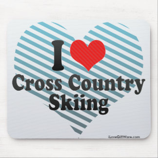 I Love Cross Country Skiing Mousepads