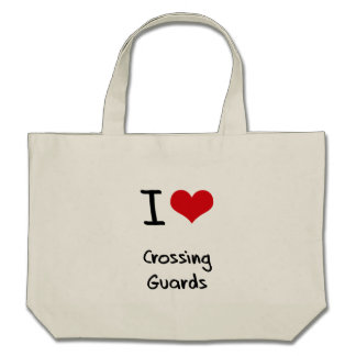 I love Crossing Guards Tote Bags