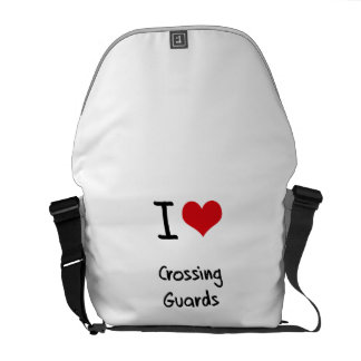 I love Crossing Guards Courier Bag