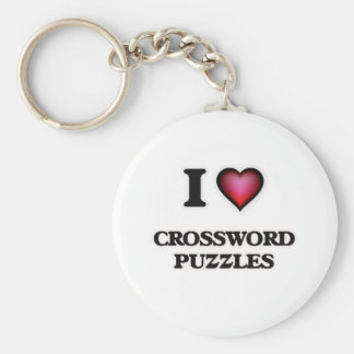 I love Crossword Puzzles Key Ring