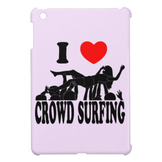 I Love Crowd Surfing (female) (blk) Cover For The iPad Mini