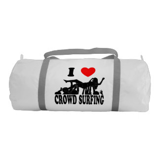 I Love Crowd Surfing (female) (blk) Gym Bag