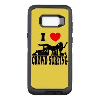 I Love Crowd Surfing (female) (blk) OtterBox Defender Samsung Galaxy S8+ Case