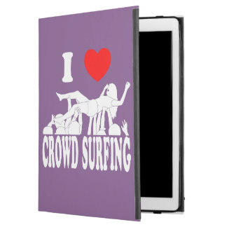 "I Love Crowd Surfing (female) (wht) iPad Pro 12.9"" Case"