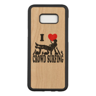I Love Crowd Surfing (male) (blk) Carved Samsung Galaxy S8+ Case