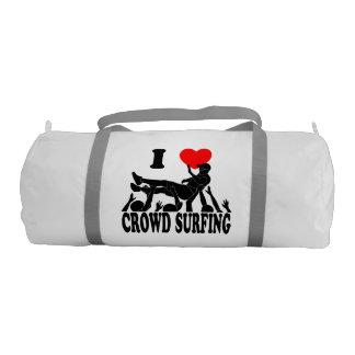 I Love Crowd Surfing (male) (blk) Gym Bag