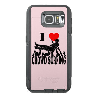 I Love Crowd Surfing (male) (blk) OtterBox Samsung Galaxy S6 Case