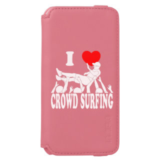 I Love Crowd Surfing (male) (wht) Incipio Watson™ iPhone 6 Wallet Case