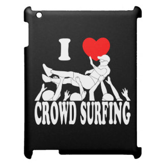 I Love Crowd Surfing (male) (wht) iPad Case