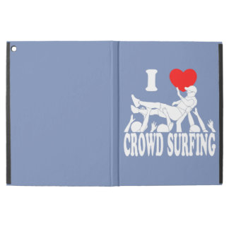 "I Love Crowd Surfing (male) (wht) iPad Pro 12.9"" Case"