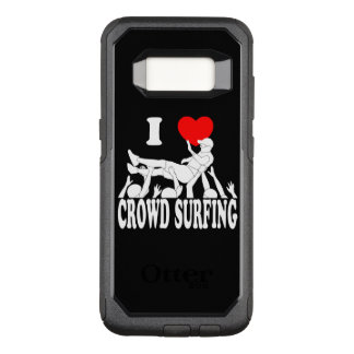 I Love Crowd Surfing (male) (wht) OtterBox Commuter Samsung Galaxy S8 Case