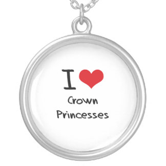 I love Crown Princesses Personalized Necklace