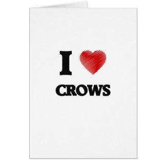 I love Crows Greeting Card