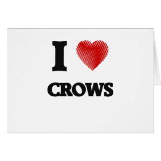 I love Crows Greeting Card